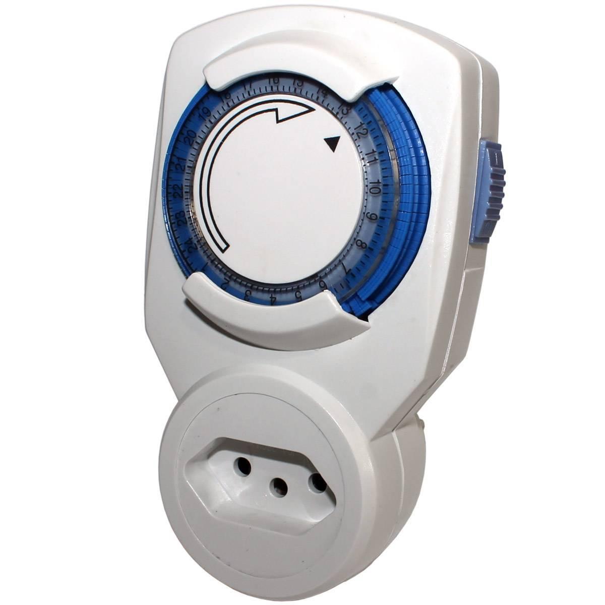 Timer mecânico Bivolt DNI-6600/ Tomada (Novo Padrão) BND-60/B39 - Casa da Pilha