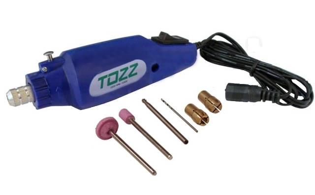 Mini Furadeira p/ Trabalhos Manuais 12VDC TZF46 - Casa da Pilha