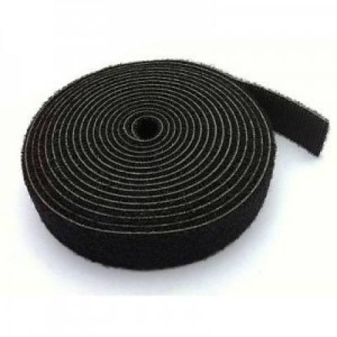 Abraçadeira de Velcro Multiuso Preto 20mm rolo c/2,5m Dupla  - Casa da Pilha