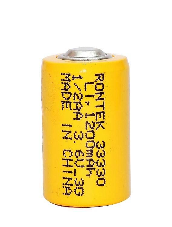 Bateria 3,6V 1200mAh ER14250 (1/2AA) Lithium RONTEK s/ term. - Casa da Pilha