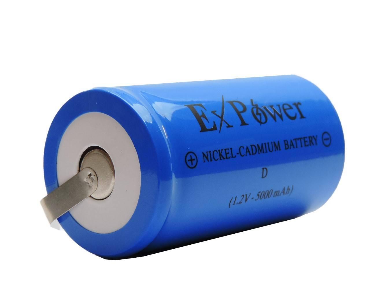 Bateria 1,2V 5000mAh Tipo D NICD c/ Terminal - Casa da Pilha