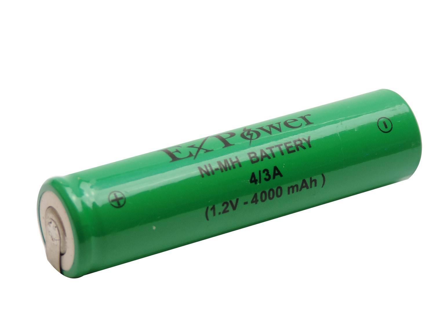Bateria 1,2V 4000mAh 4/3A NIMH c/ Terminal - Casa da Pilha