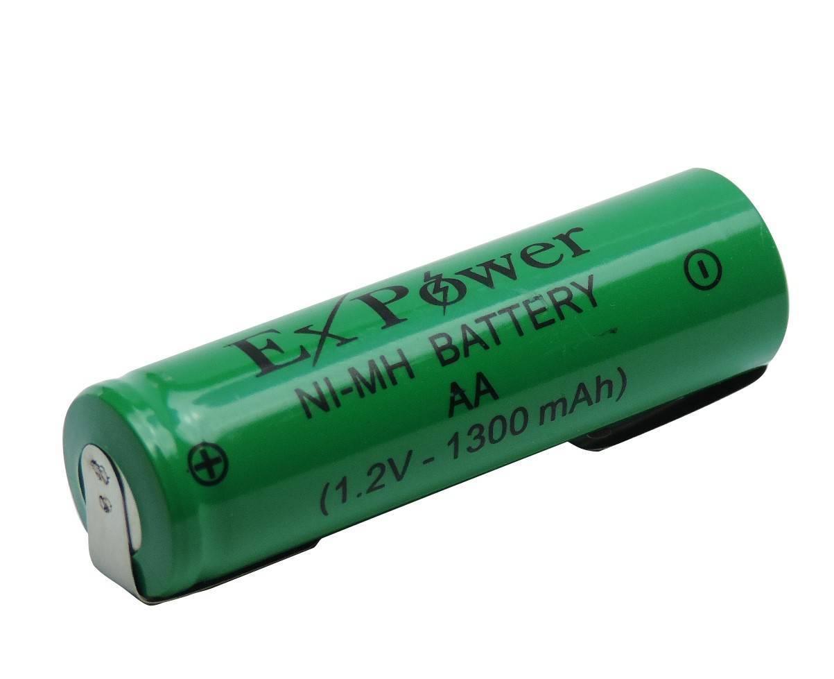 Bateria 1,2V 1300mAh AA NIMH c/ Terminal - Casa da Pilha