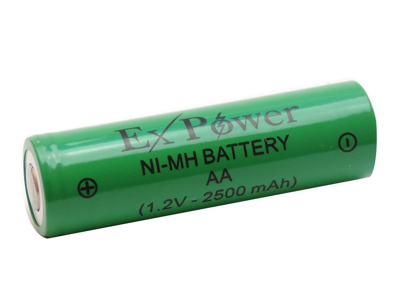 Bateria 1,2V 2500mAh AA NIMH c/ Terminal - Casa da Pilha