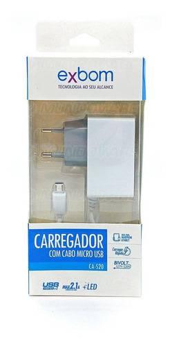 Carregador USB c/ 3 Saídas 2.1A CA-S20 EXBOM - Casa da Pilha