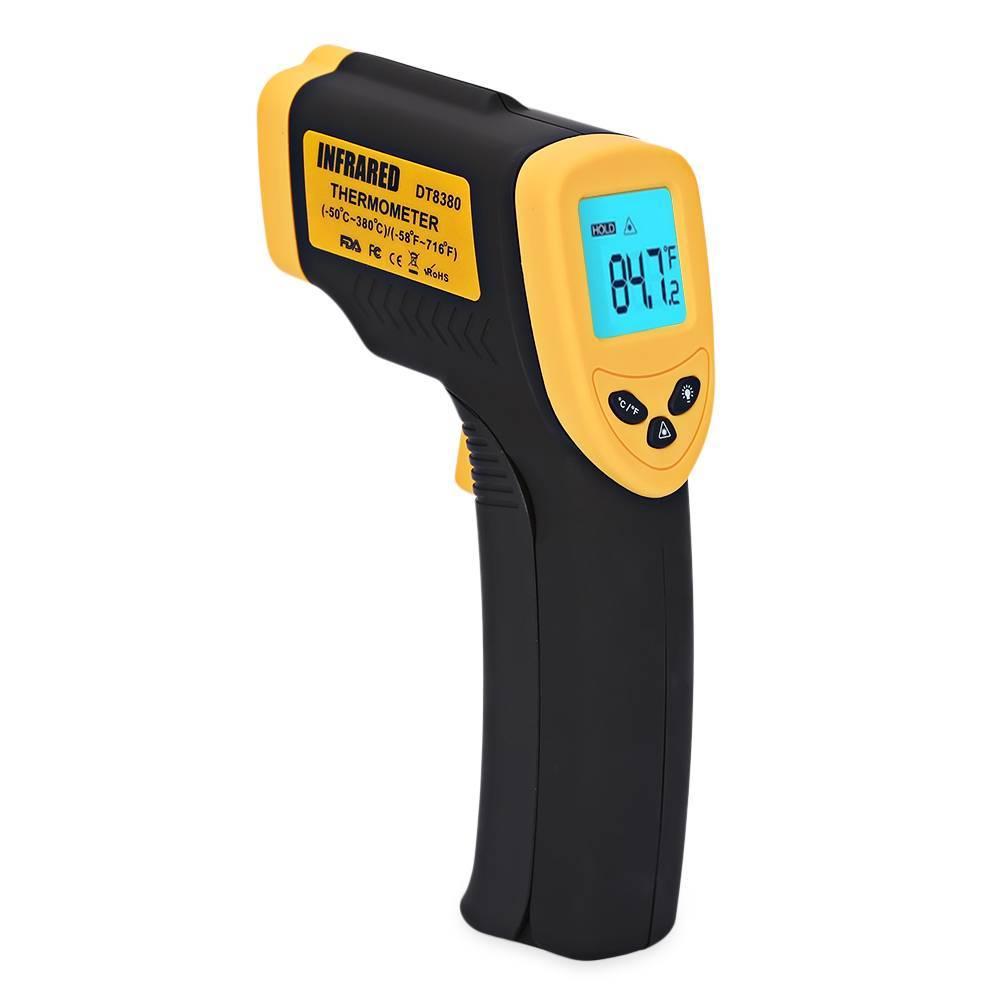 Termômetro Digital c/ Infrared e Mira Laser DT-8380 - Casa da Pilha