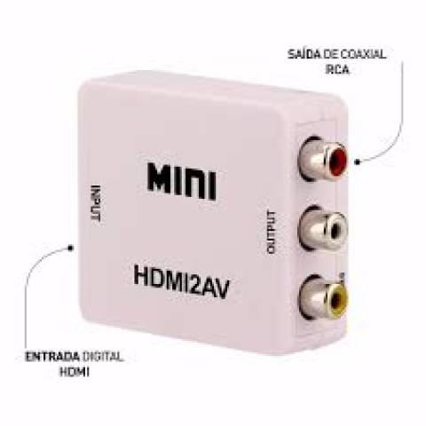 Mini Conversor HDMI p/ RCA /AV KP-3455 KNUP - Casa da Pilha