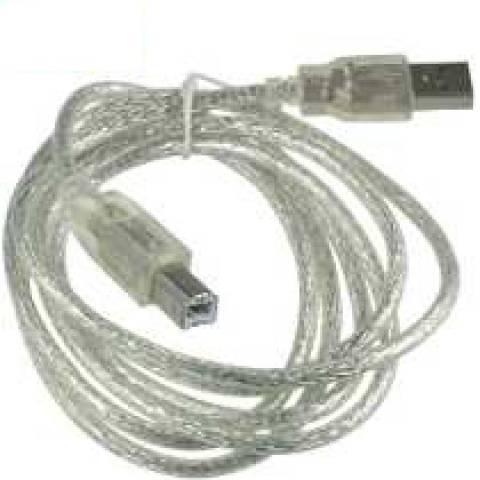 Cabo USB A/B 3m (p/ impressoras, scanners,etc) FCAB-3 FEASSO - Casa da Pilha