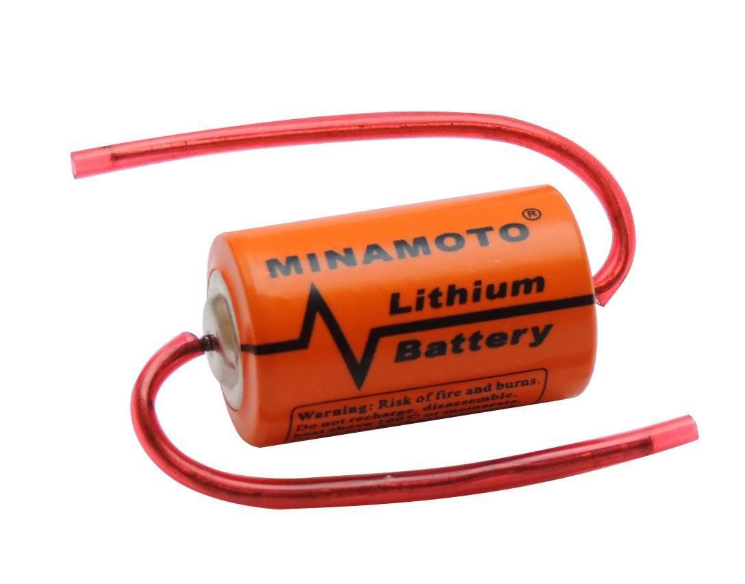 Bateria 3,6V ER14250 (1/2AA) Lithium MINAMOTO c/ Terminal - Casa da Pilha
