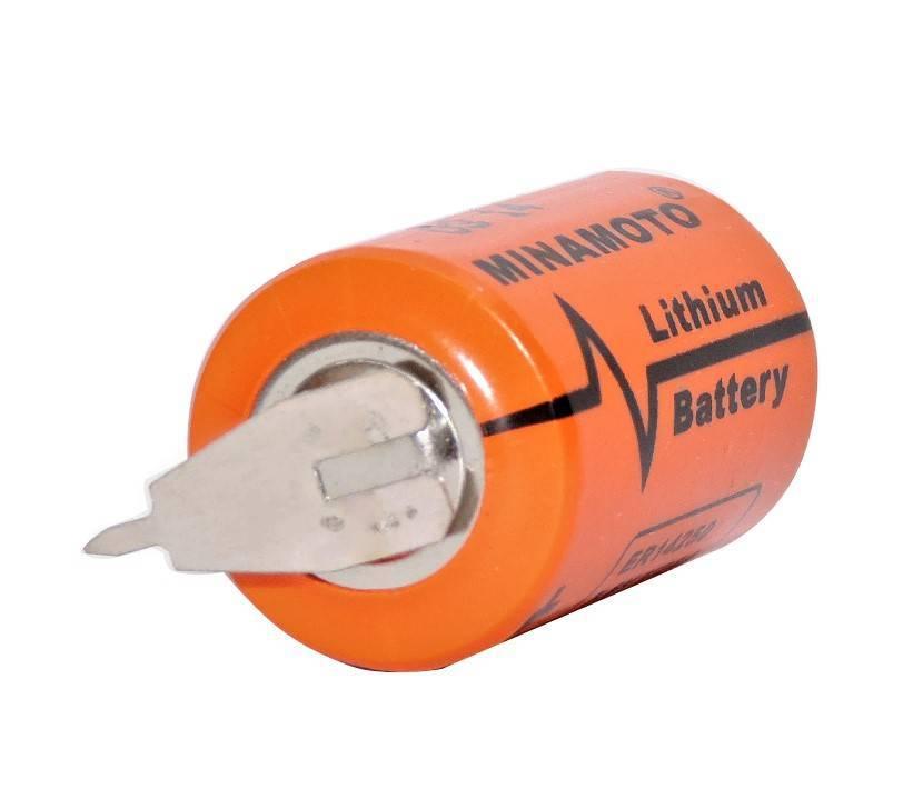 Bateria 3,6V ER14250 (1/2AA) Lithium MINAMOTO c/ 3 Terminais - Casa da Pilha