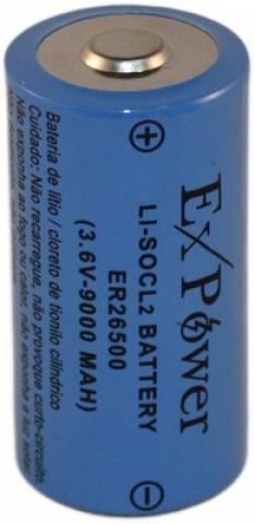 Bateria 3,6V 9000mAh ER26500 LITH EXPOWER s/ Term. - Casa da Pilha
