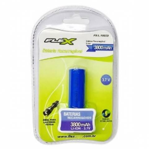 Bateria 3,7V 3800mAh 18650 Lithium Recarregável FLEXPOWER - Casa da Pilha