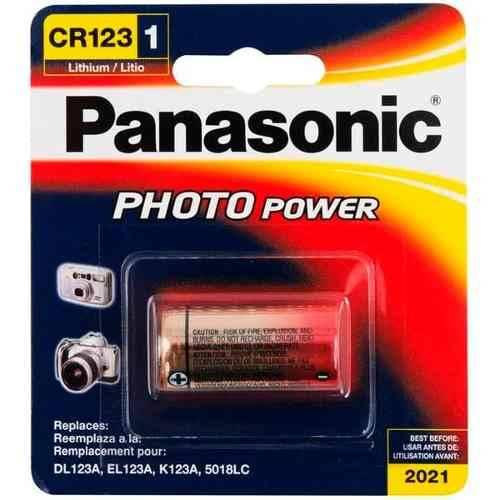 Bateria 3V CR123A Lithium PANASONIC - Casa da Pilha