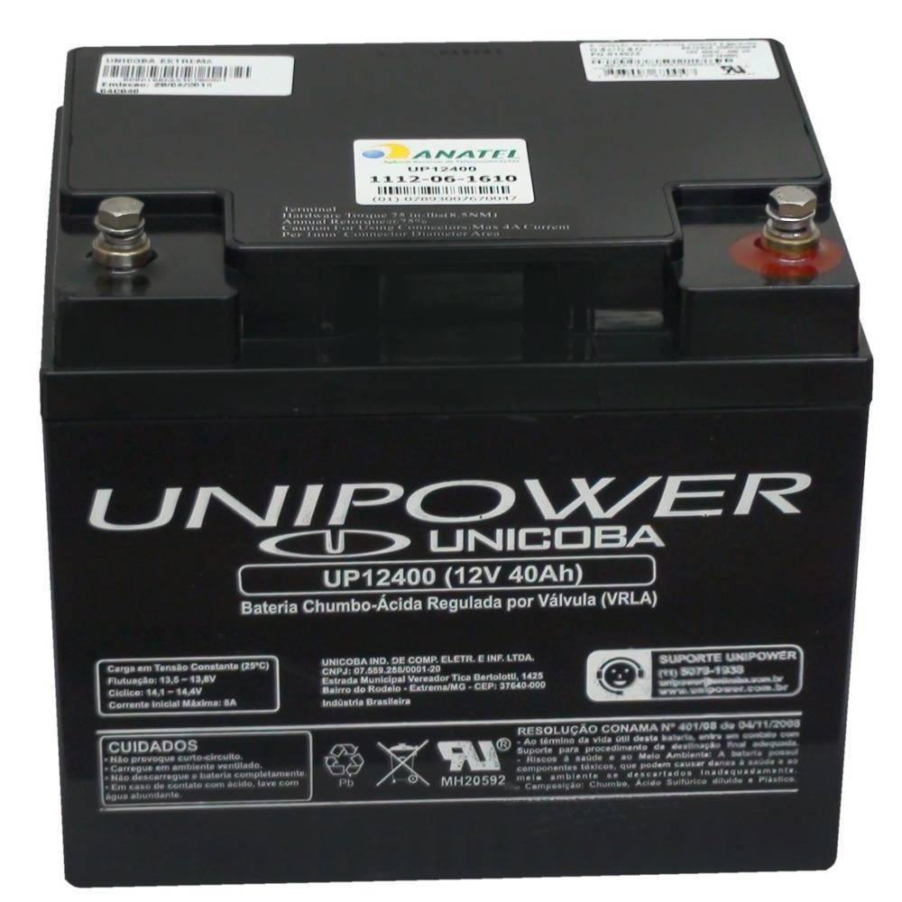 Bateria Selada 12V 40Ah UP12400 VRLA UNIPOWER - Casa da Pilha