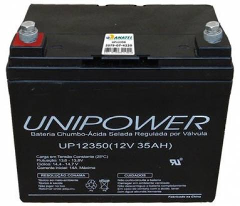 Bateria Selada 12V 35Ah UP12350 VRLA UNIPOWER - Casa da Pilha