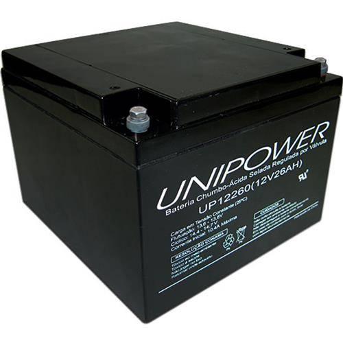 Bateria Selada 12V 26Ah UP12260 VRLA UNIPOWER - Casa da Pilha