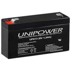 Bateria Selada 6V 1,3Ah UP613 VRLA UNIPOWER