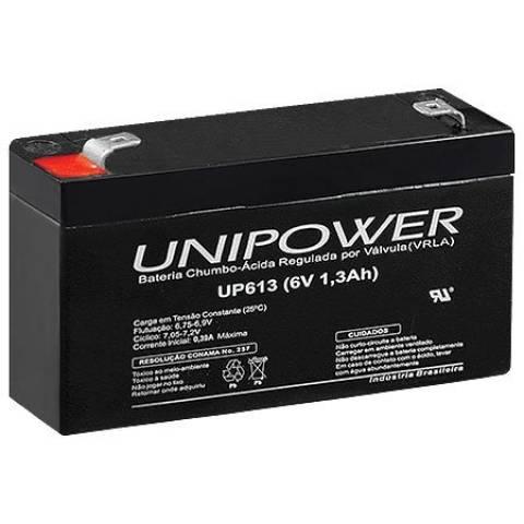 Bateria Selada 6V 1,3Ah UP613 VRLA UNIPOWER - Casa da Pilha