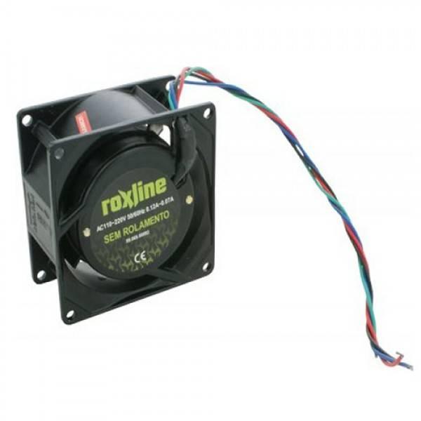 Microventilador Cooler 80x80x38mm Bivolt ROXLINE - Casa da Pilha