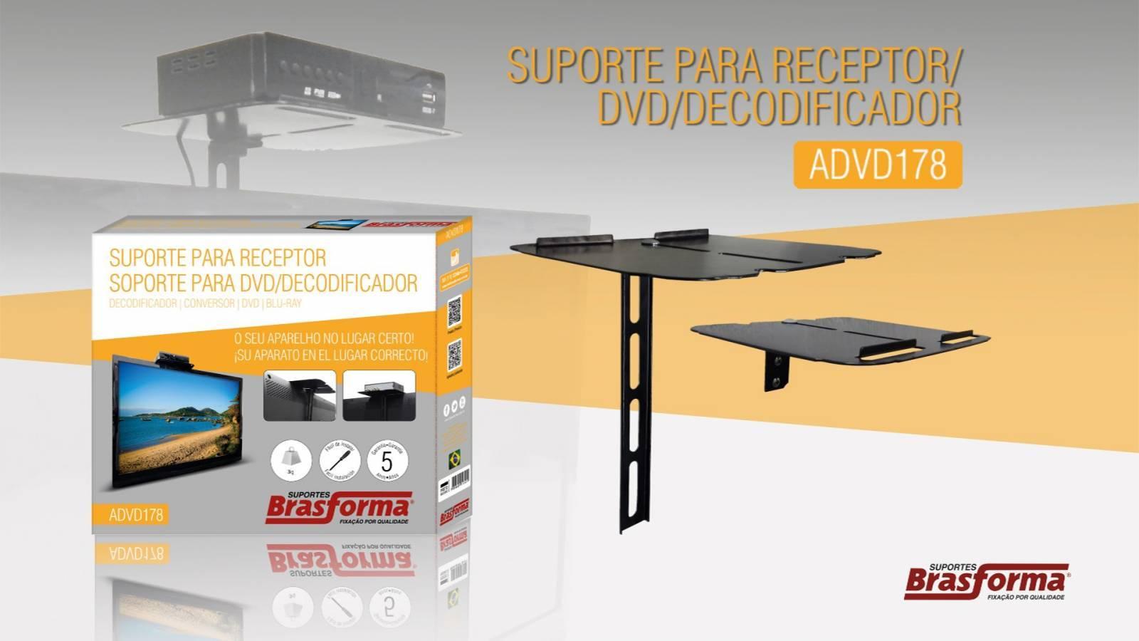 Suporte p/ DVDs e Receptores ADVD178 BRASFORMA - Casa da Pilha