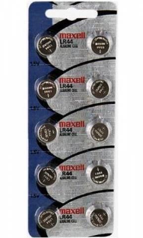 Bateria Botão LR44 Blister c/ 10un. MAXELL - Casa da Pilha