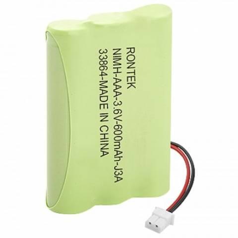 Bateria p/ Telefone s/ Fio 3,6V 600mAh 3xAAA RONTEK - Casa da Pilha