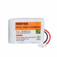 Bateria p/ Telefone s/ Fio 3,6V 300mAh 3x2/3AA RONTEK