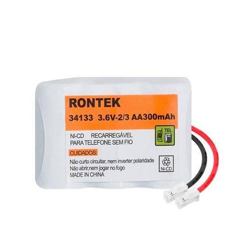 Bateria p/ Telefone s/ Fio 3,6V 300mAh 3x2/3AA RONTEK - Casa da Pilha