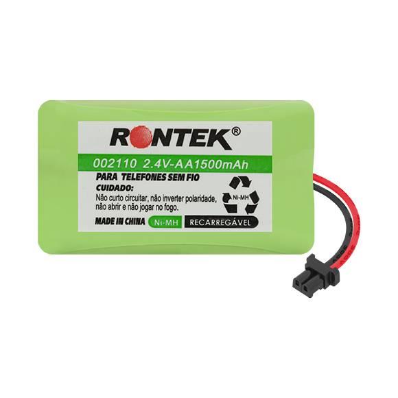 Bateria p/ Telefone s/ Fio 2,4V 1500mAh 2xAA RONTEK - Casa da Pilha