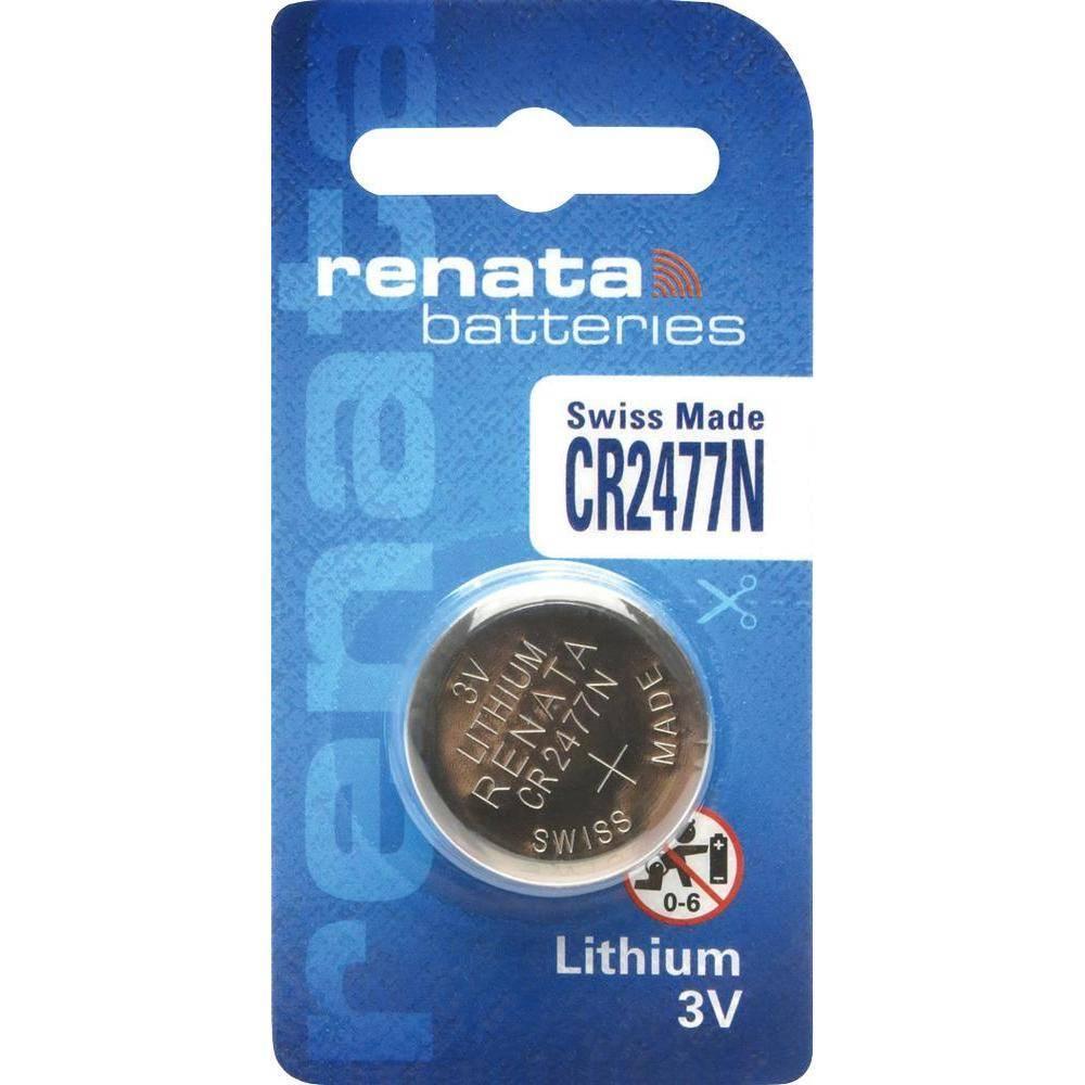 Bateria Botão CR2477N 3V Lithium c/ Chanfro RENATA - Casa da Pilha