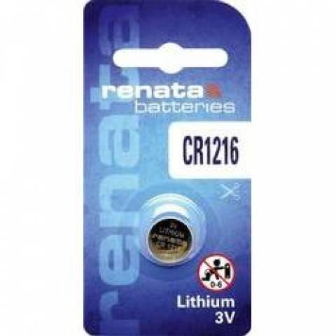 Bateria Botão CR1216 3V Lithium RENATA - Casa da Pilha