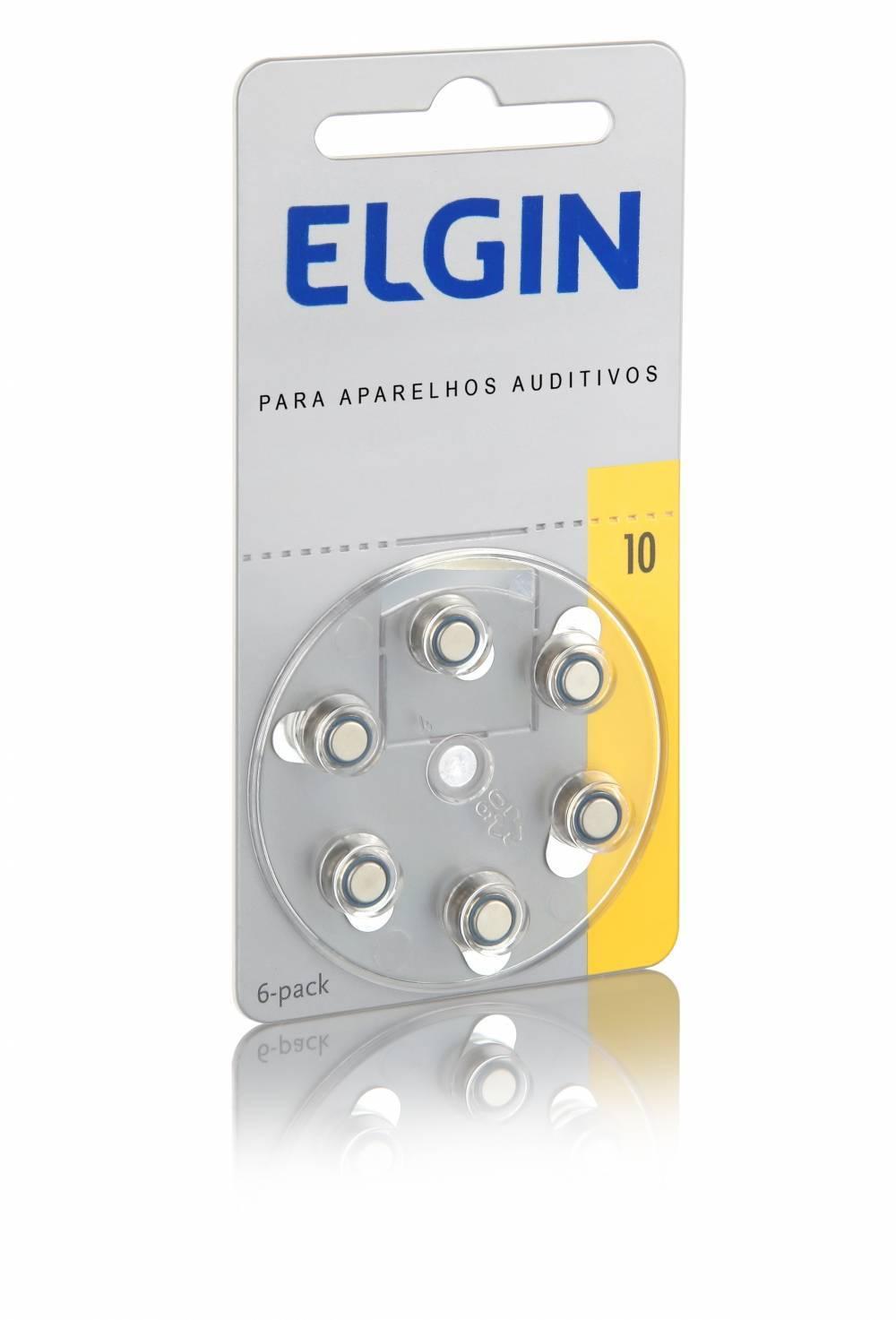 Bateria 10 p/ Aparelho Auditivo 1.45V PR70 ELGIN - Casa da Pilha