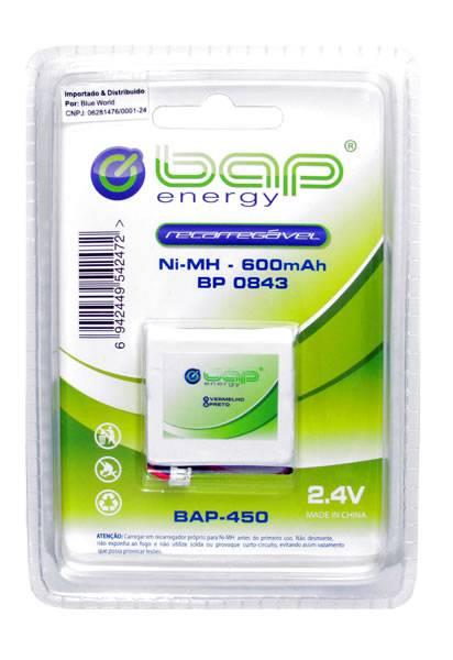 Bateria p/ Telefone s/ Fio 2,4V 600mAh BP 0843 (BAP-450) BAP - Casa da Pilha