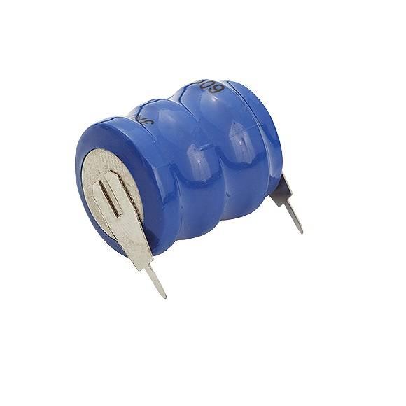 Bateria 3,6V 60mAh Botão NICD c/ 2 Terminais - Casa da Pilha