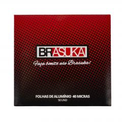 Papel Aluminio Para Narguile Brasuka - 50 Folhas - 40 Micras