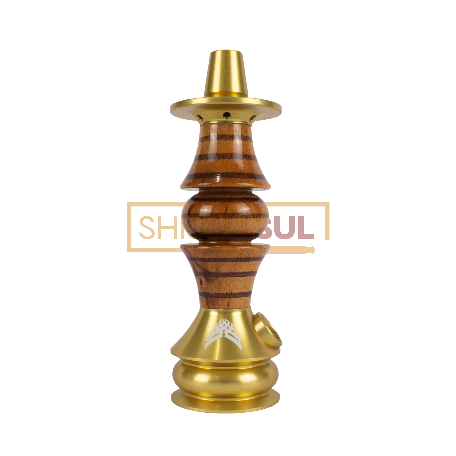 Stem / Narguile Marajah Umbrella Nano Dourado / Marrom Stripes