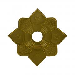 Prato Hookah King Mini Imperial Dourado