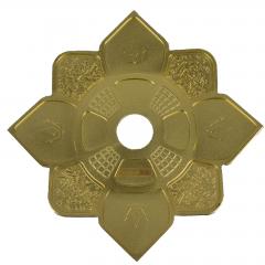 Prato Hookah King Imperial Dourado
