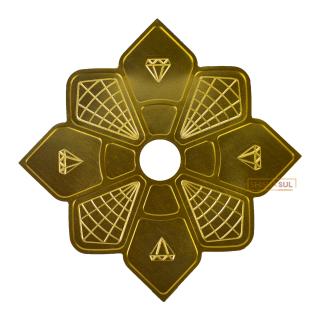 Prato Diamond Dourado   SHISHA SUL