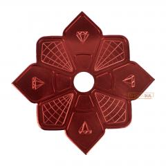 Prato Diamond Vermelho