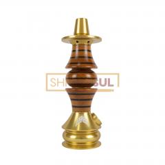 Stem / Narguile Marajah Umbrella Nano Dourado / Preto Stripes