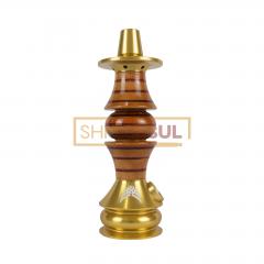 Stem / Narguile Marajah Umbrella Nano Dourado / Vermelho Stripes