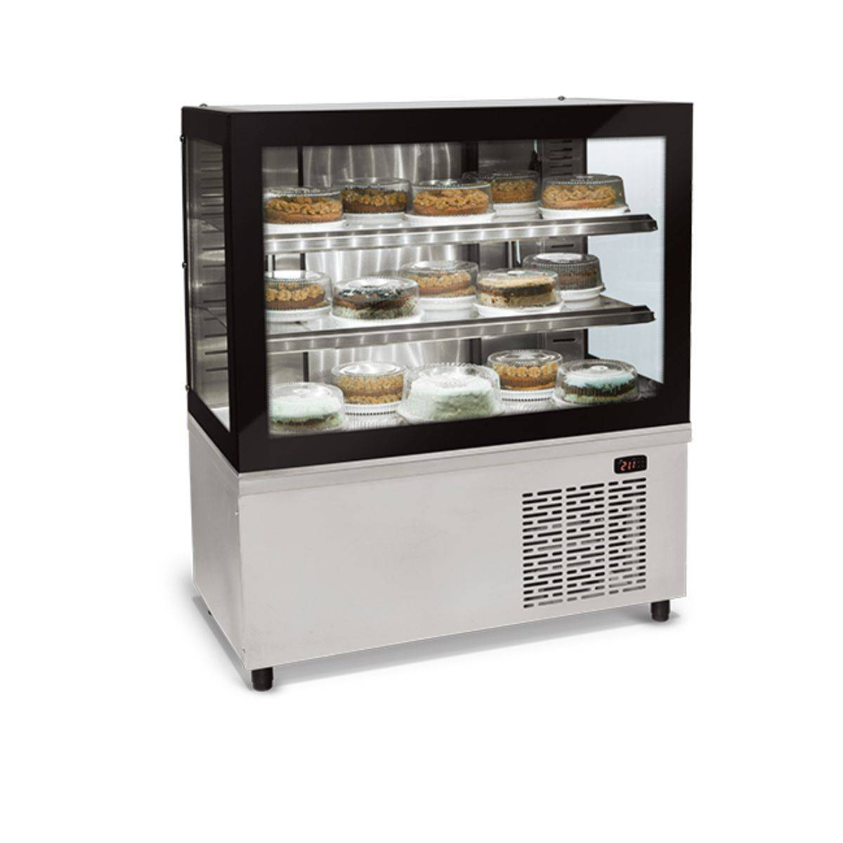 Balcão Refrigerado Vidro Reto Black Box BRX-100 Conservex - Magazine do Chef