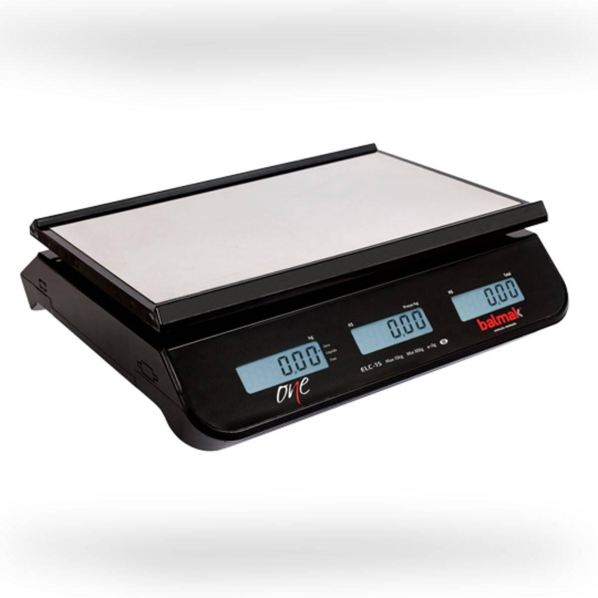 Balança Computadora 30Kg com Bateria ELCO-6/15/30B Balmak - Magazine do Chef