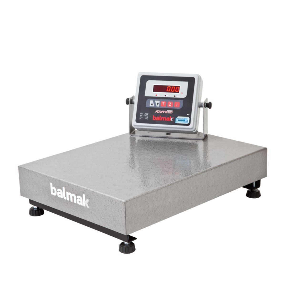 Balança Industrial Eletrônica 300Kg Plataforma BK-300 Balmak - Magazine do Chef