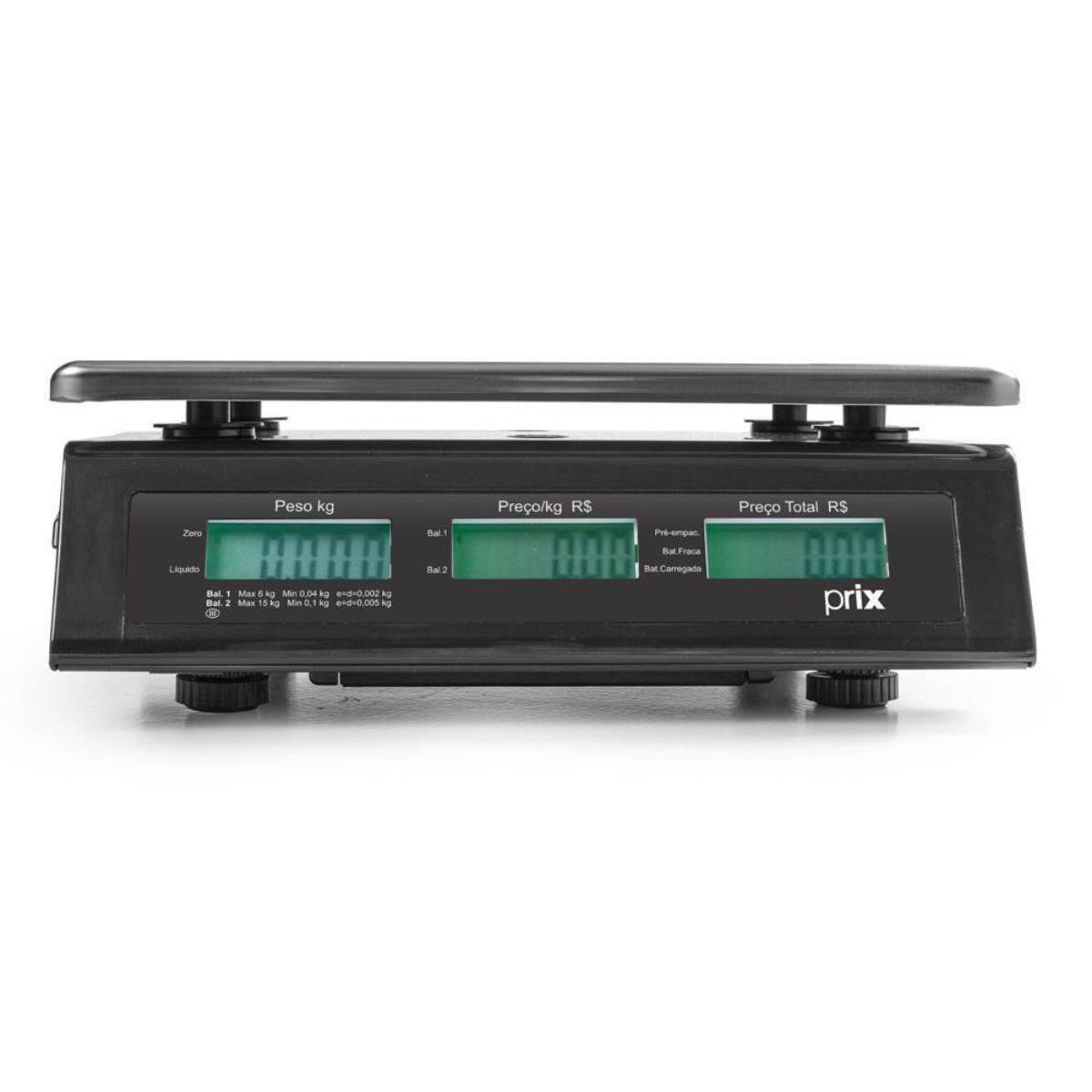 Balança Digital Computadora 15Kg Bateria Prix3 Fit Toledo - Magazine do Chef