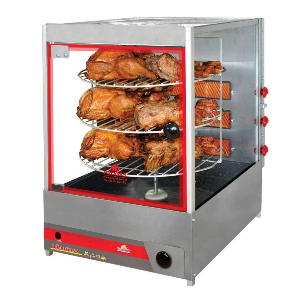 Forno Multiuso Giratório Compacto à Gás 30 Kg PRP124G Progás - Magazine do Chef