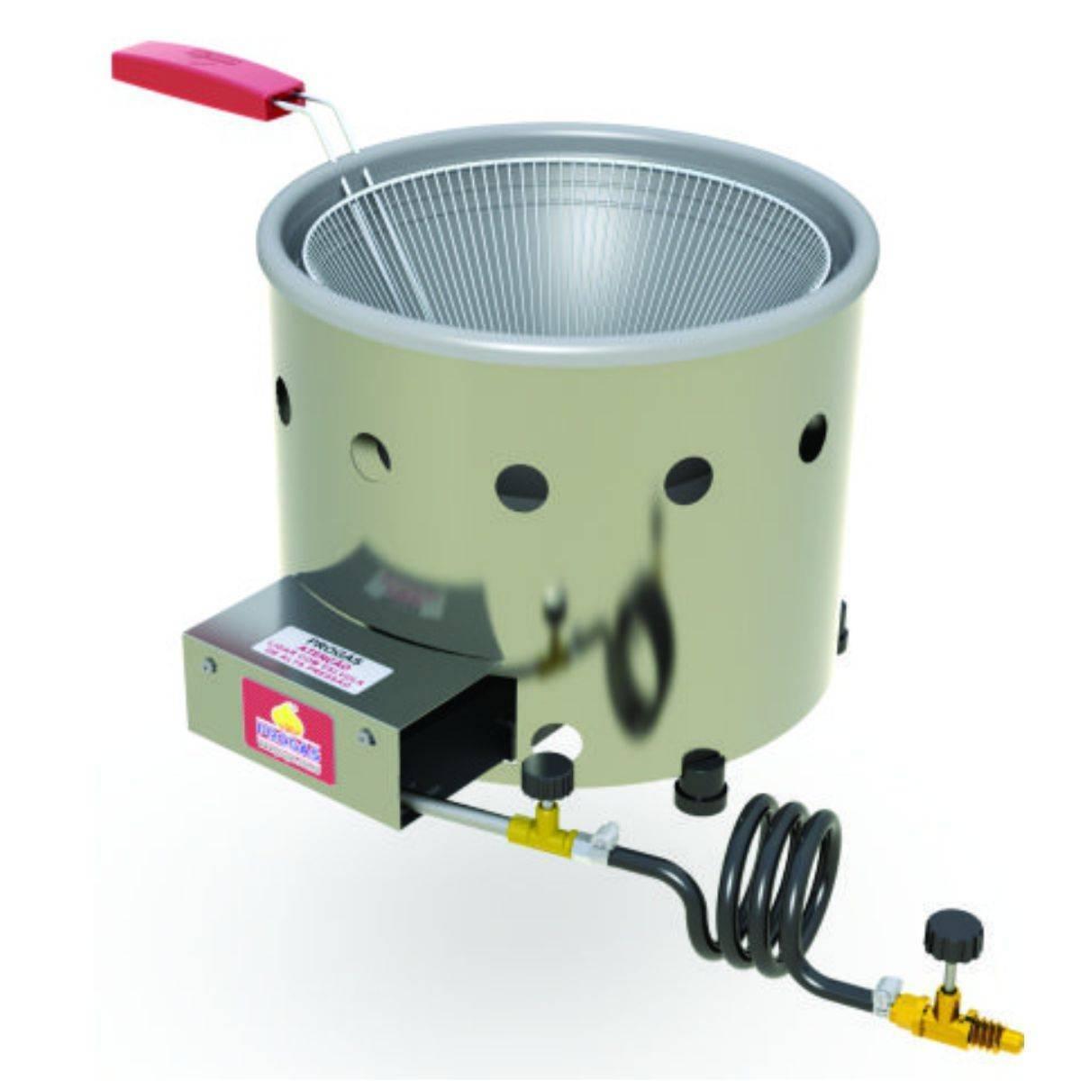 Tacho de Fritura Inox a Gás 3 litros PR-310 G Progás  - Magazine do Chef