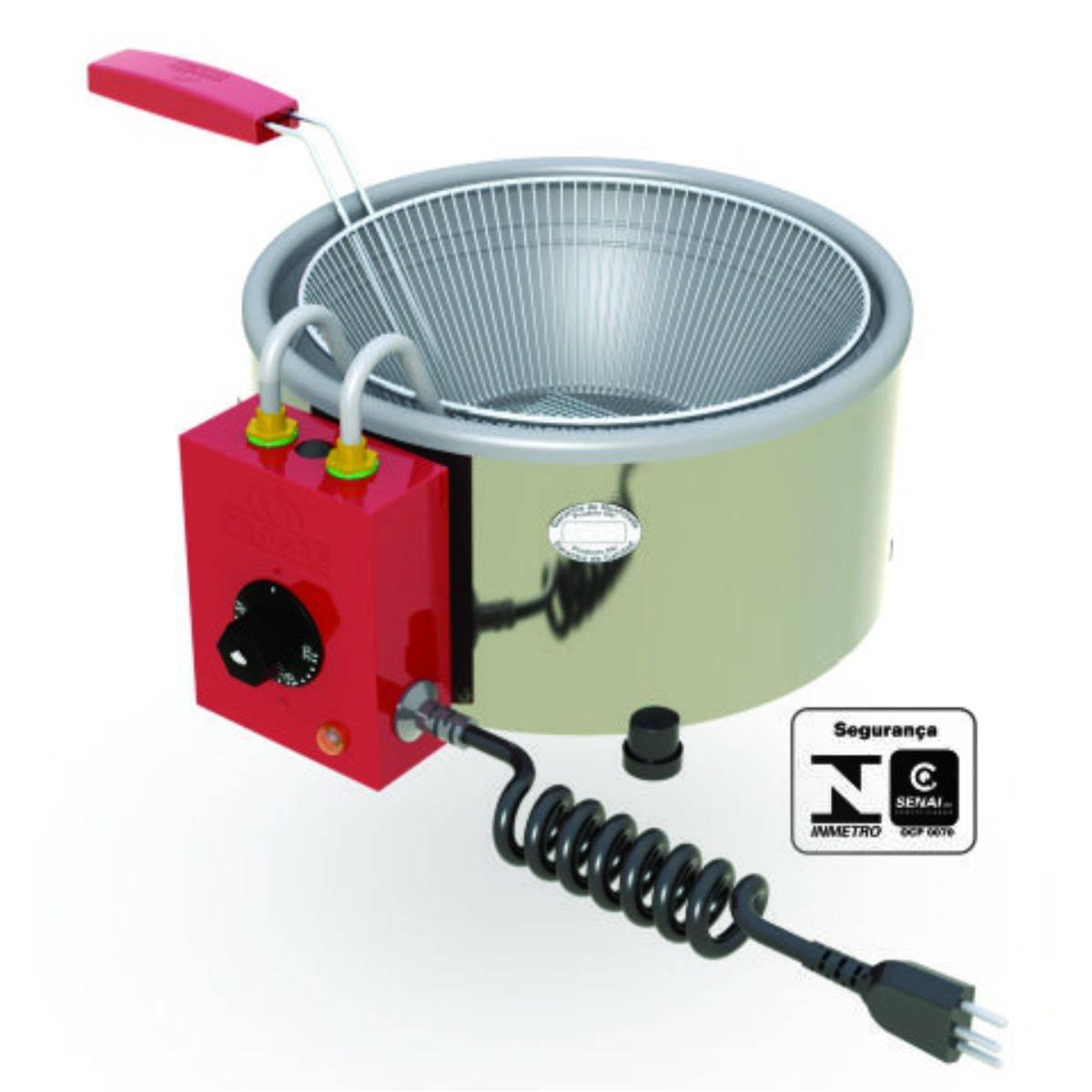 Tacho de Fritura Inox Elétrico 3 litros PR-310E Progás  - Magazine do Chef