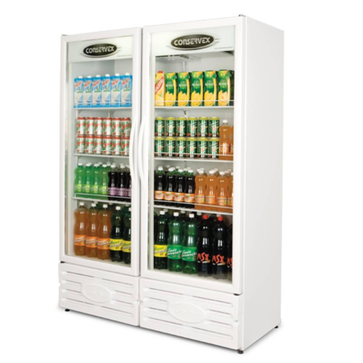 Expositor Refrigerado Vertical 2 Portas ERV-850 Conservex  - Magazine do Chef